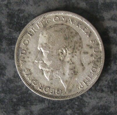 1920 Great Britain Silver Florin Coin, KM#817a, 0.1818 ASW - No Reserve