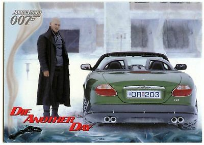 Zao's Jaguar XKR #50 Die Another Day 2002 James Bond 007 Trade Card (C1159)