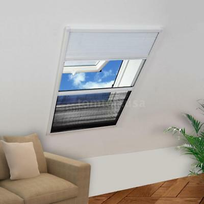 Insect Plisse Screen Window Aluminium 160 x 80 cm with Shade R6P3