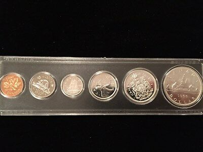 """1966 Canada Silver Royal Mint Proof Like Original 6 Coin Set """"With Mint Luster"""""""