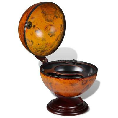 Tabletop Bar Globe with Embowed Stand Wine Liquor Table Stand E1Z7