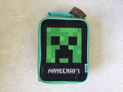 New Thermos Minecraft Creeper Insulated Lunch Box