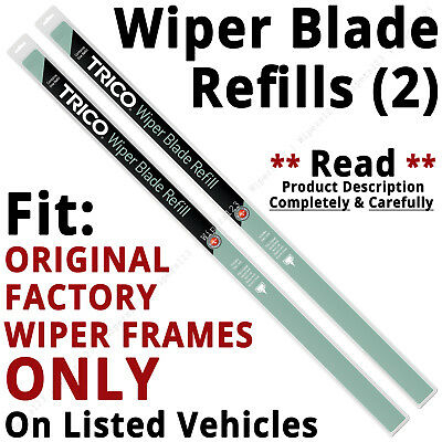 Pair of Wiper Blade Refills FIT ORIGINAL Factory Wiper Frames ONLY - 45-280/190