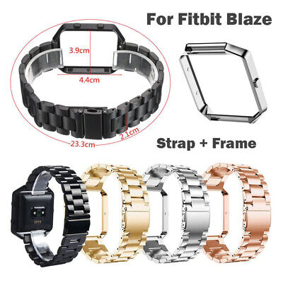 Stainless Steel Metal Smart Watch Genuine Strap Band + Frame For Fitbit Blaze UK