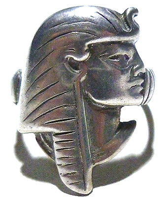Vintage Old Egyptian Revival Egypt Pharoah Womens Estate Ring Size 8.75