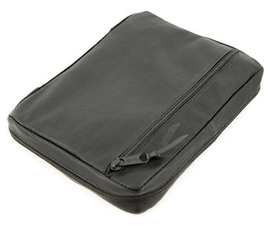 "Black Authentic Leather Bible Cover Case for 5.25"" x 7.25"" Bible - NEW!"