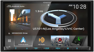 KENWOOD Double DIN Bluetooth Car Stereo w/ Apple CarPlay/Android Auto   DNX875S