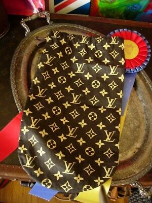Ultra RARE Vintage LOUIS VUITTON Wine Bag LV Textile Barware Gift Tote Accessory