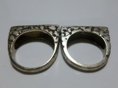 Vintage Estate Modern Womens Sterling Silver Stackable Ring Band Set Lot Thick!