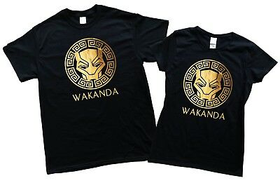 6240371771af95 Wakanda Gold Foil Shirt T shirt Hoodies Men women Kid black panther Shirt  NEW
