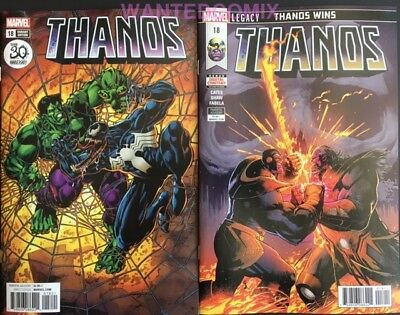 Thanos #18 Both Covers Venom Variant Cover Cosmic Ghost Rider Hulk Comic Set 1 2