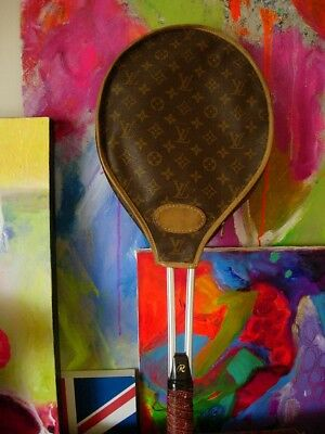 RARE Auth Vintage LOUIS VUITTON Sports Tennis Racquet Cover - French Company LV