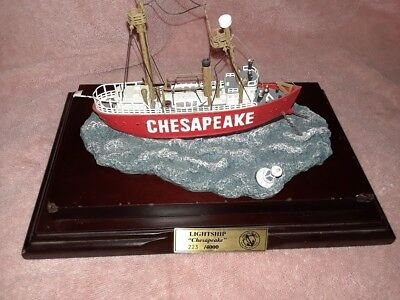 The Chesapeake The Light Vessel No. 116 Anchor Bay 1997 Ship  On Wooden Base