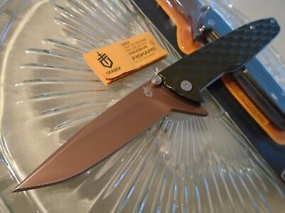 Gerber One-Flip Green Copper Tactical Flipper Pocket Knife 5Cr15 1910617A New