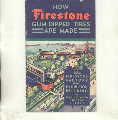 1933 Firestone Car Truck Tires at Chicago Exposition Brochure wz1894