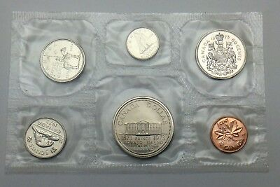 1973 Canada Brilliant Uncirculated RCM Large Bust Quarter Canadian Coin Set F164