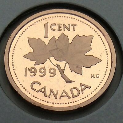 1999 Proof Canada 1 One Cent Copper Penny Canadian Uncirculated Coin F177