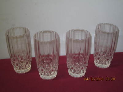 "CRISTAL 'd ARQUES (FRANCE)  ""BRETAGNE""  HIGHBALL DRINK GLASSES (4)"