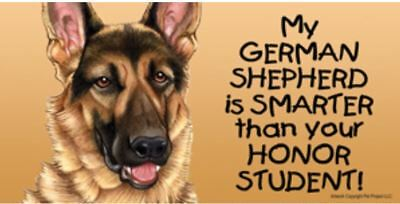My German Shepherd Smarter Than Your Honor Student Magnet 4x8 refrigerator car