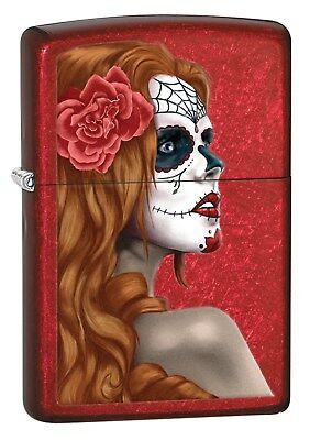 Zippo Lighter: Day of the Dead - Candy Apple Red 28830