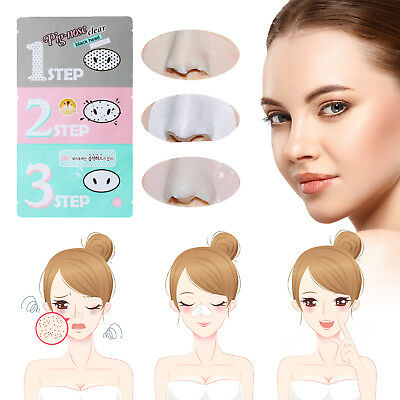 Pig Nose 3 Step Blackhead Face Mask Removal Pore Strips Remover Treatment Kit