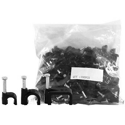 8Mm Cable Clip To Suit Rg6Quad Cable Round Black 100Pack