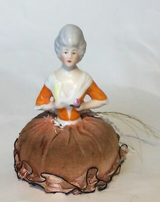 ANTIQUE GERMANY*FIGURAL LADY HALF DOLL*PIN CUSHION DOLL GERMAN~SwEEt~