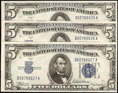UNCIRCULATED SILVER CERTIFICATES Old $1 One Dollar Bills Paper Money ...
