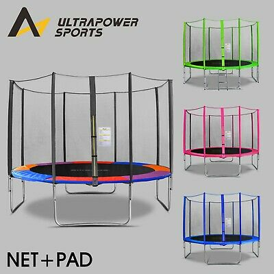 Set Of Trampoline Pad & Safety Net 8Ft 10Ft 12Ft 14Ft Replacement Padding Mat