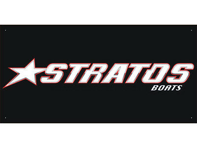 Advertising Display Banner for Stratos Boats