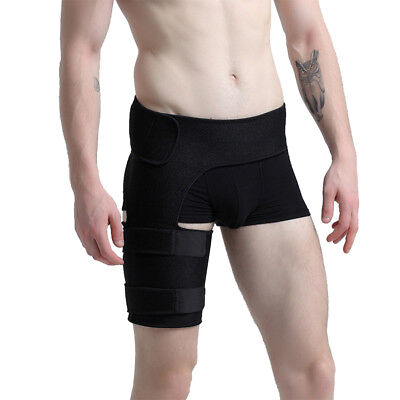 Hiking Skiing Thigh Wrap Leg Support Hamstring Groin Compression Sleeve Brace