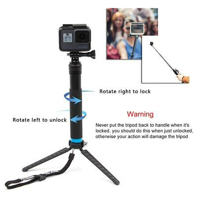 Waterproof Handheld Monopod Tripod Selfie Stick Pole for Gopro Hero 4 5 6 SJCAM