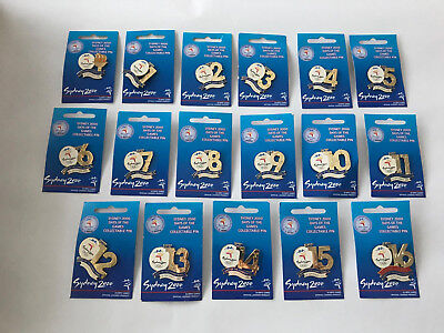 Sydney 2000 Olympic Days Of The Games Opening Closing Ceremony 17 Pin Collection