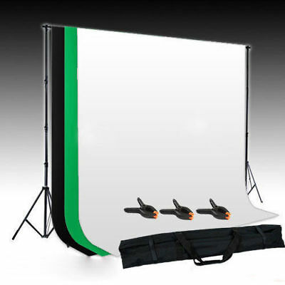 1.6m x 3m Green Black White Screen chromakey Background Backdrop Photographic UK