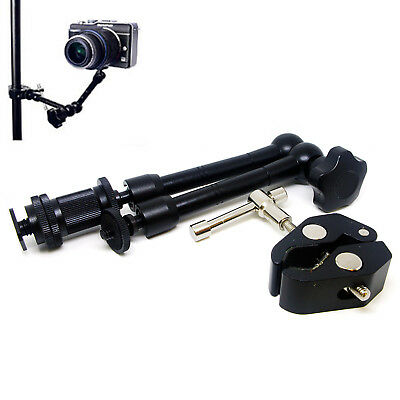 """11"""" Articulating Magic Arm / Super Crab Clamp Plier Clip for Camera Monitor LCD"""
