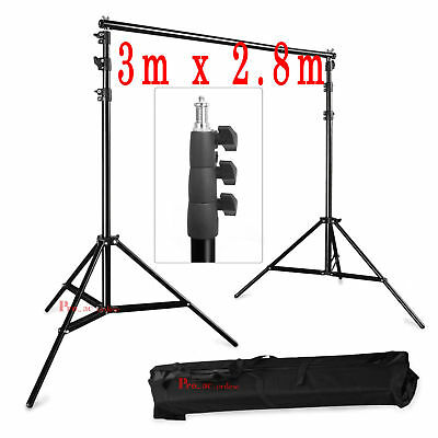 3m x 2.8m Photo Background Backdrop Support Stand Tripod Kit for Studio Lighting