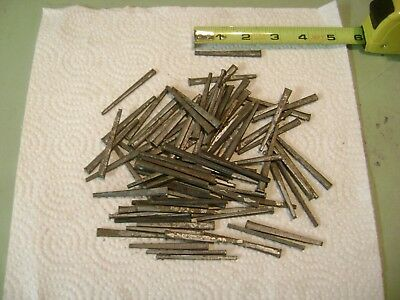 """80 Antique Old Square Cut Nails Steel 2 1/4"""" Long Good For Flooring"""