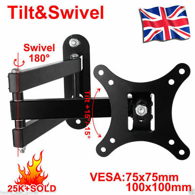 TV Wall Mount Bracket Tilt Swivel 14 16 18 20 21 22 23 24 26 30 LCD LED PLASMA
