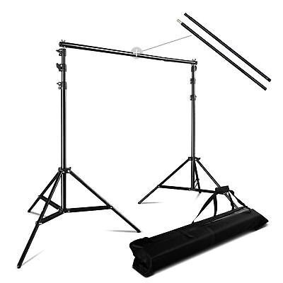 3m * 2.8m Photo Background Backdrop Support Stand System Kit Set 10ft * 9ft