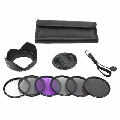 FOR nikon canon sony olympus 58mm UV CPL Flower Hood Cap ND2 ND4 ND8 Filter Set