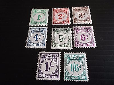 Gilbert And Ellice Islands 1940 Sg D1-D8 Postage Dues  Mh