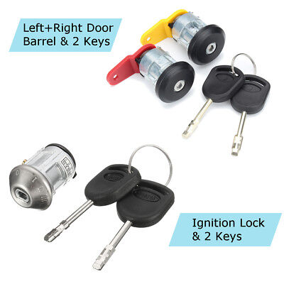 Ignition Switch Door Lock Barrel Repair Kit + 4 Keys For Ford KA Fiest Courier