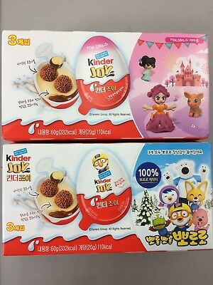 """<New Package> Kinder Joy Chocolates """"Ppororo"""" 1 Pack(3 Eggs) X 2"""