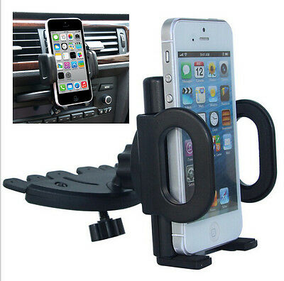 Hot !360° Car Holder CD Slot Mount Bracket For Mobile Cell Phone iPhone Samsung