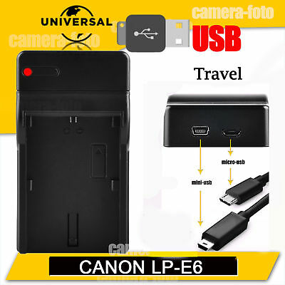 Battery USB Charger for Canon LP-E6 LPE6 EOS 7D 60D 5D Mark II Mark III UK Post