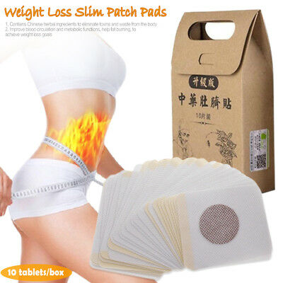 10 PCS/box Chinese Medicine Navel Stickers Fat Burner Weight Loss Herb Patch
