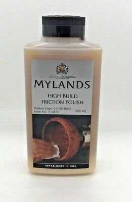 Mylands High Build Friction Polish/Shellac/Finish/Wood Turning/Sealer/ 500ml