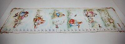 "1993 Peter Rabbit Growth Height Chart Litho Beatrix Potter  F. WARNE 12"" x 36"""