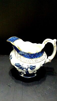 Booths creamer/ Pitcher in the 'Real Old Willow' Pattern A8025 Blue & White
