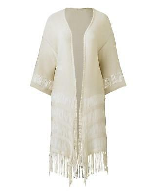 1861968858 New Simply Be Womens Fringe Cardigan